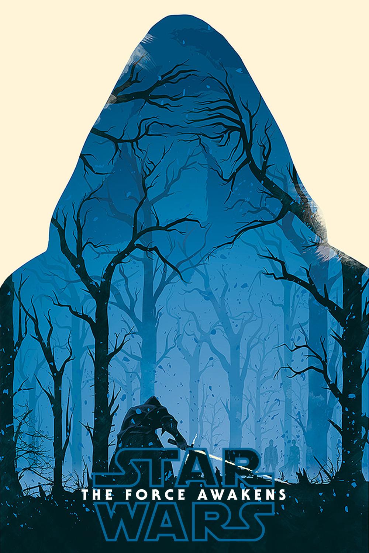 Star Wars Inspired The Force Awakens Minimalist Theatrical Program Cover Sheet Art Print
