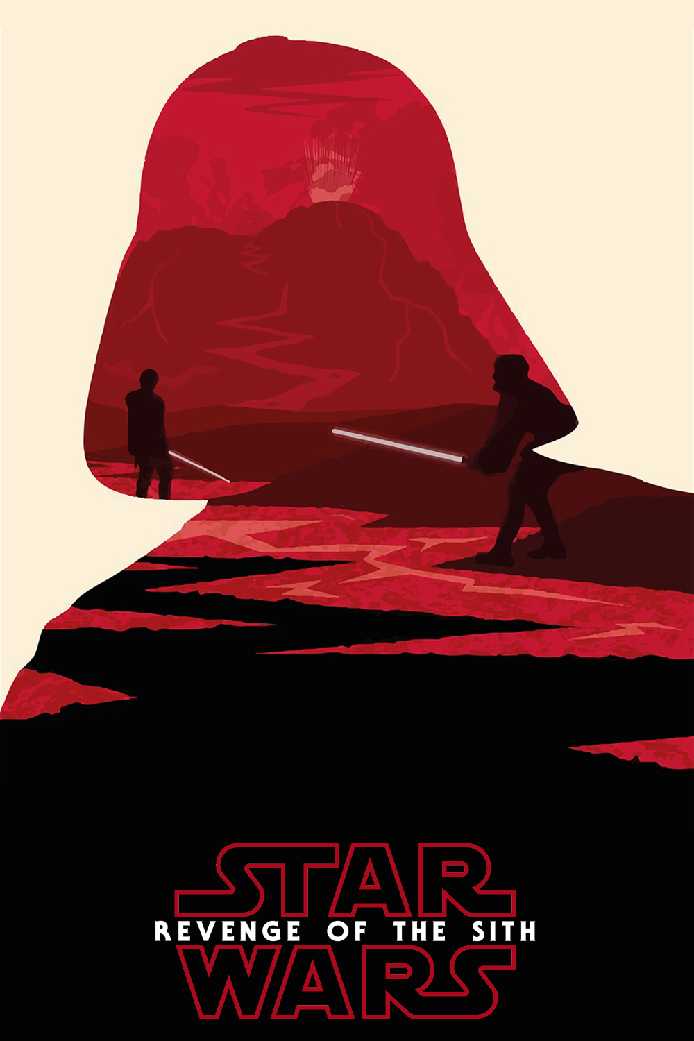 Star Wars Revenge Of The Sith Minimal Art Style Plex Collection Posters
