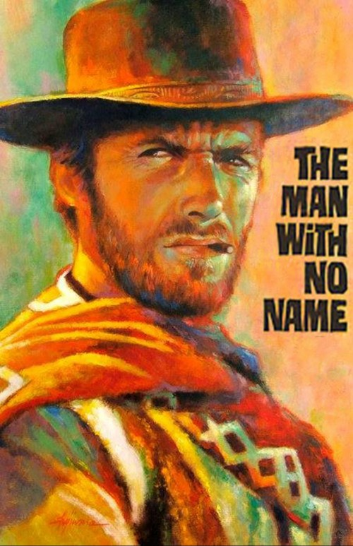 "The Man with No Name is the protagonist portrayed by Clint Eastwood in Sergio Leone's ""Dollars Trilogy"" of Spaghetti Western films: A Fistful of Dollars (1964), For a Few Dollars More (1965) and The Good, the Bad and the Ugly (1966). He is easily recognizable due to his iconic poncho, brown hat, tan cowboy boots, fondness for cigarillos and the fact that he rarely talks. Though he is called ""Joe"", ""Manco"" and ""Blondie"" in the each film respectively, since he never introduces himself by name in any of the films, he is conventionally known as ""The Man with No Name."" This list also includes High Plains Drifter and Pale Rider as extensions of TMWNN idea as Eastwood is only referred to as ""The Stranger"" and ""Preacher"" respectively."